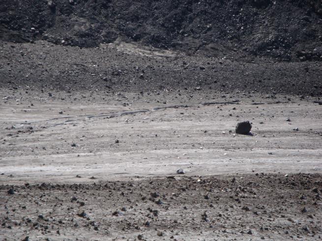 gros rocher sur le Glacier de Corbassière
